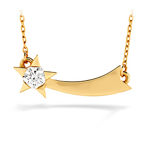 Illa Single Diamond Comet Necklace